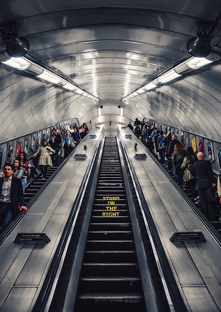 escalator in london