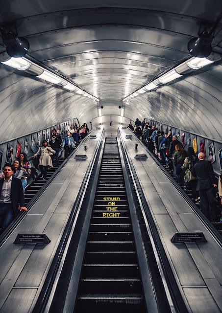 escalator in london