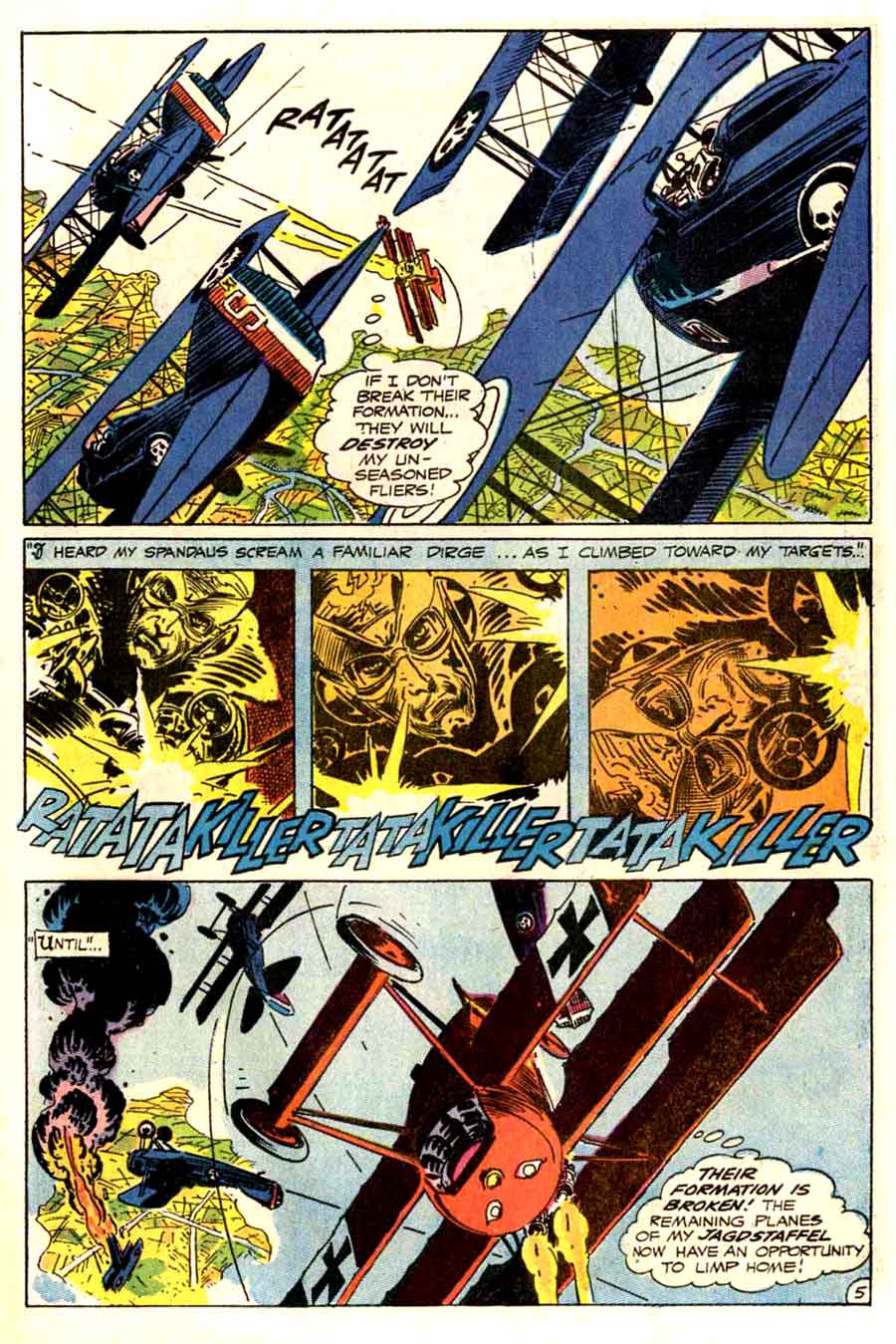 Star Spangled War v1 #144 enemy ace dc comic book page art by Joe Kubert, Neal Adams