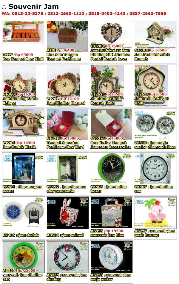 Daftar Harga Souvenir Jam