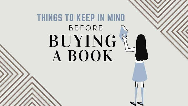 Things to keep in mind before buying a book