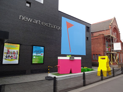 Doug Fishbone's Leisure Land Golf at the New Art Exchange in Nottingham