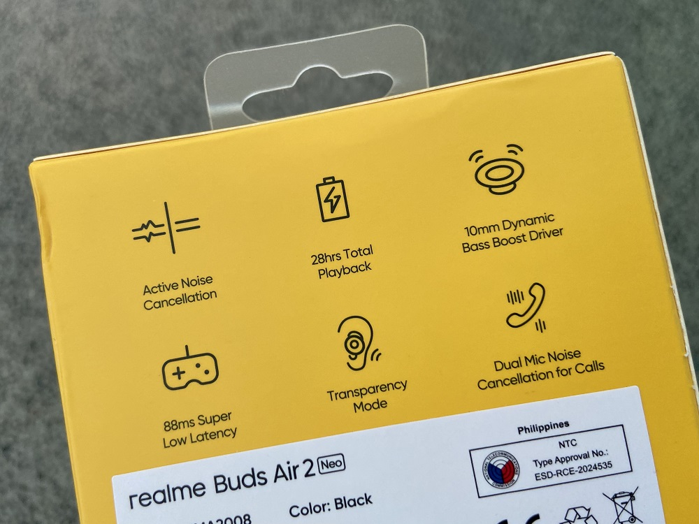 realme Buds Air 2 Neo - Retail Box Back