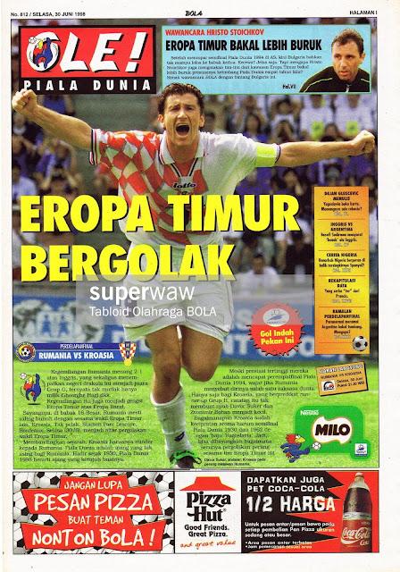 DAVOR SUKER OF CROATIA VS ROMANIA WORLD CUP 1998 FRANCE