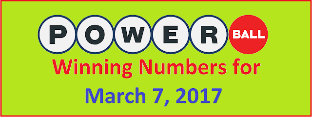 PowerBall Winning Numbers for Wednesday, 07 March 2018