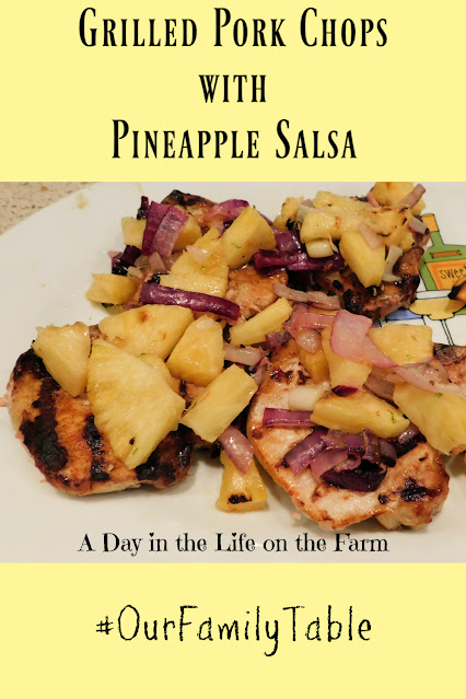 Grilled Pork Chops with Pineapple Salsa pin