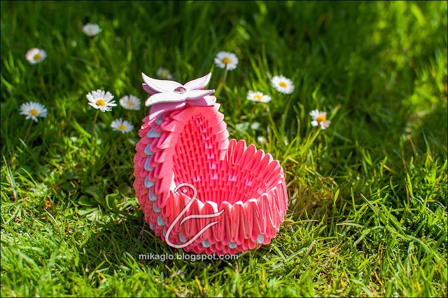 671. Kołyska z origami / 3d origami baby cradle