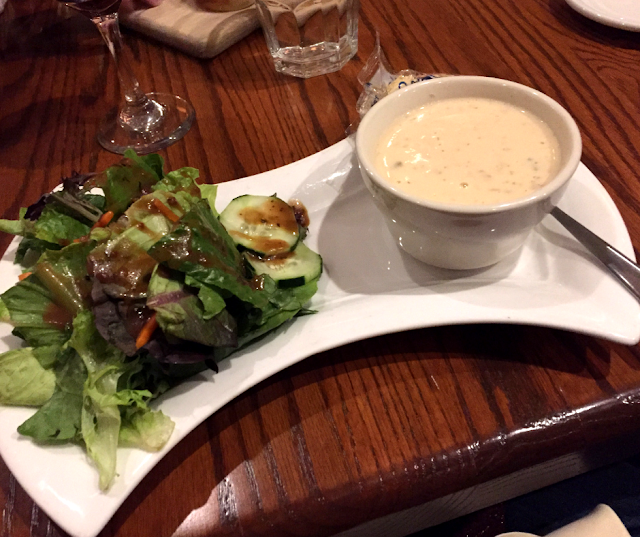 Salad and soup pair added to dinner at One Eleven Main.