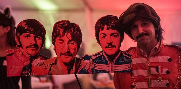 Sgt Pepper George with a little help from his friends!  sc 1 st  The Beatles Through The Years & The Beatles Through The Years: Beatles Halloween Costume Party at ...