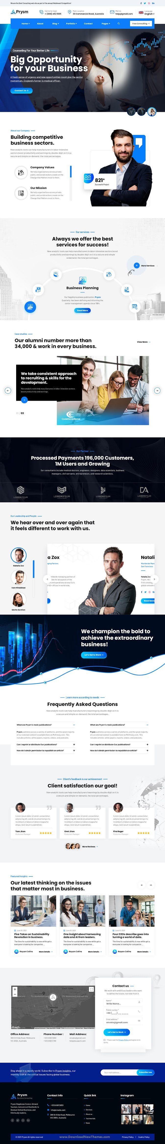 Primor– Business Consulting and Professional Services HubSpot Theme