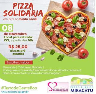 Pizza Solidária em prol ao Fundo Social de Miracatu