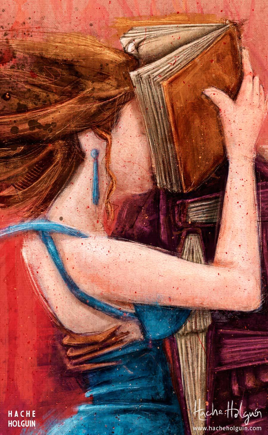 Ilustración. Tangos y letras para la revista Libros y Letras por Hache Holguín