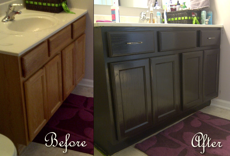misadventures in diy bathroom vanity oakness makeover 18151