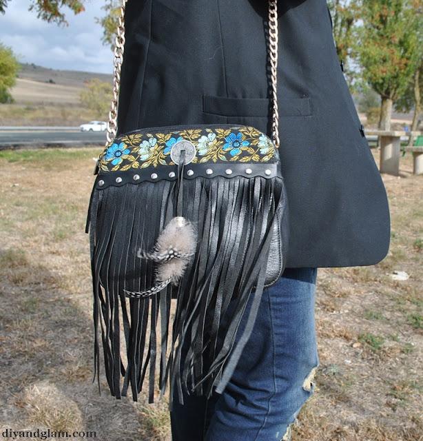 DIY como hacer un bolso bohemio