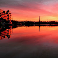 Dublin images: Sunrise over Grand Canal Dock