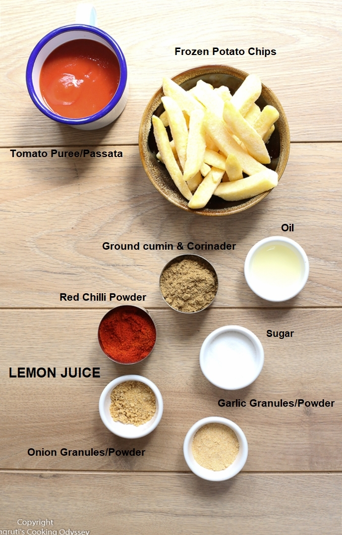 layout of masala chips ingredients