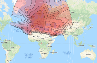 Footprint Beam Coverage Satellite Eutelsat 16A 16.0°E