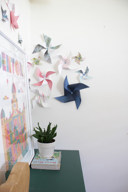Pinwheel wall art decor | House Homemade