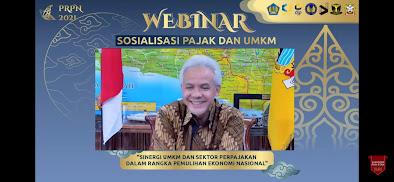 Ganjar Pranowo Hadiri Webinar di PRPN PKN STAN