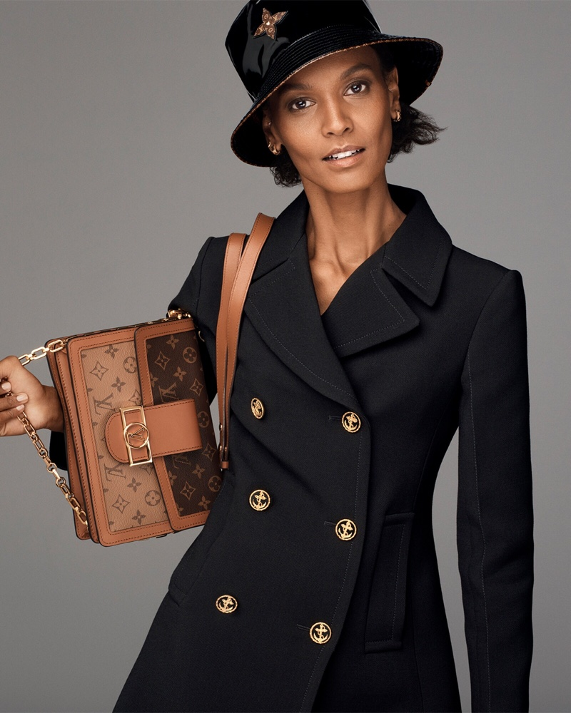 Louis Vuitton features Dauphine bag with monogram print for new campaign.