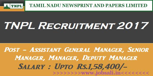 TNPL Jobs, TNPL Careers, TNPL Manager Recruitment