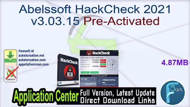 Abelssoft HackCheck 2021 v3.03.15 Pre-Activated