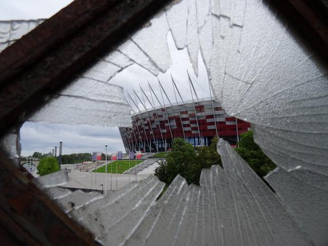 Stadion Narodowy w Warszawie z mostu Poniatowskiego