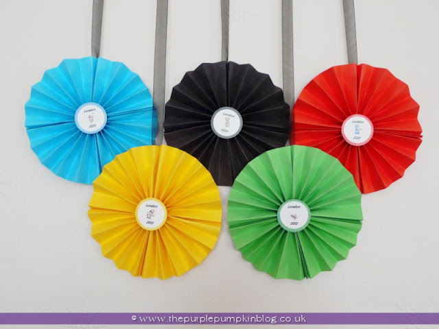 #Olympics Rings Paper Wall Fans at The Purple Pumpkin Blog