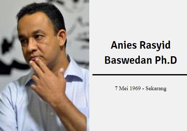 PROFIL Biodata Pak Anies Rasyid Baswedan Ph.D