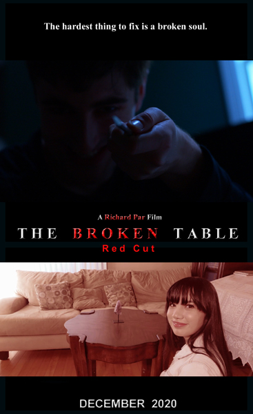 The official poster for THE BROKEN TABLE: RED CUT Edition.