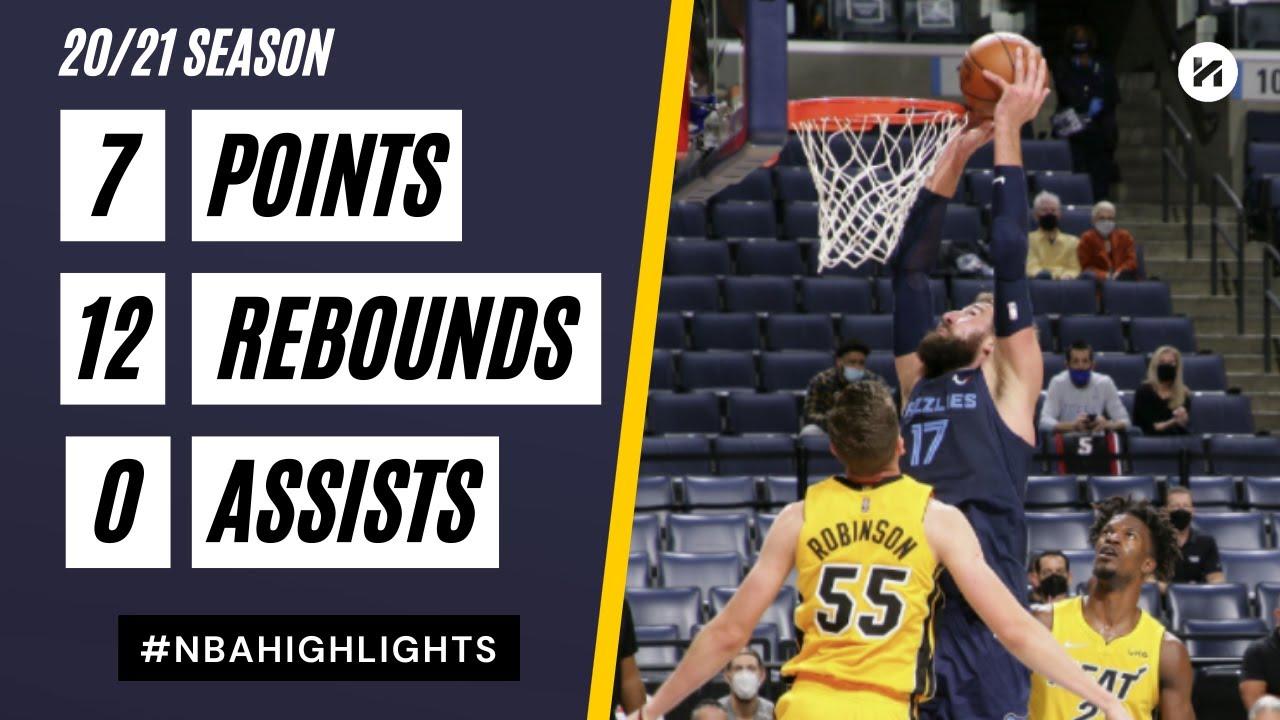 Jonas Valanciunas 7pts 12reb vs MIA | March 17, 2021 | 2020-21 NBA Season