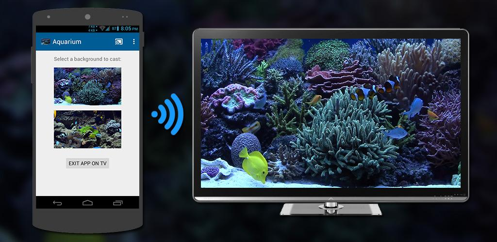 Salvaschermo acquario TV Android
