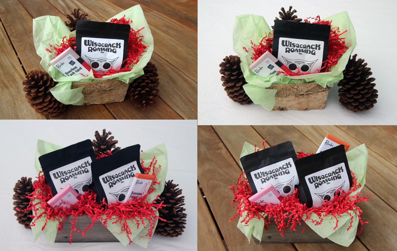Shop Craft Roasted Coffee Chocolate Holiday Gift Baskets Wisecrack Roasting Company