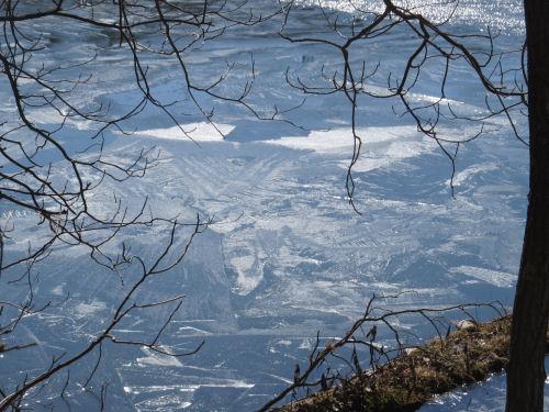 new ice on lake