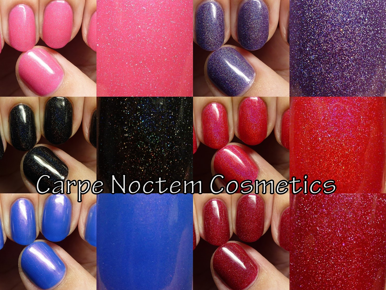 The Polished Hippy: Carpe Noctem Cosmetics swatches