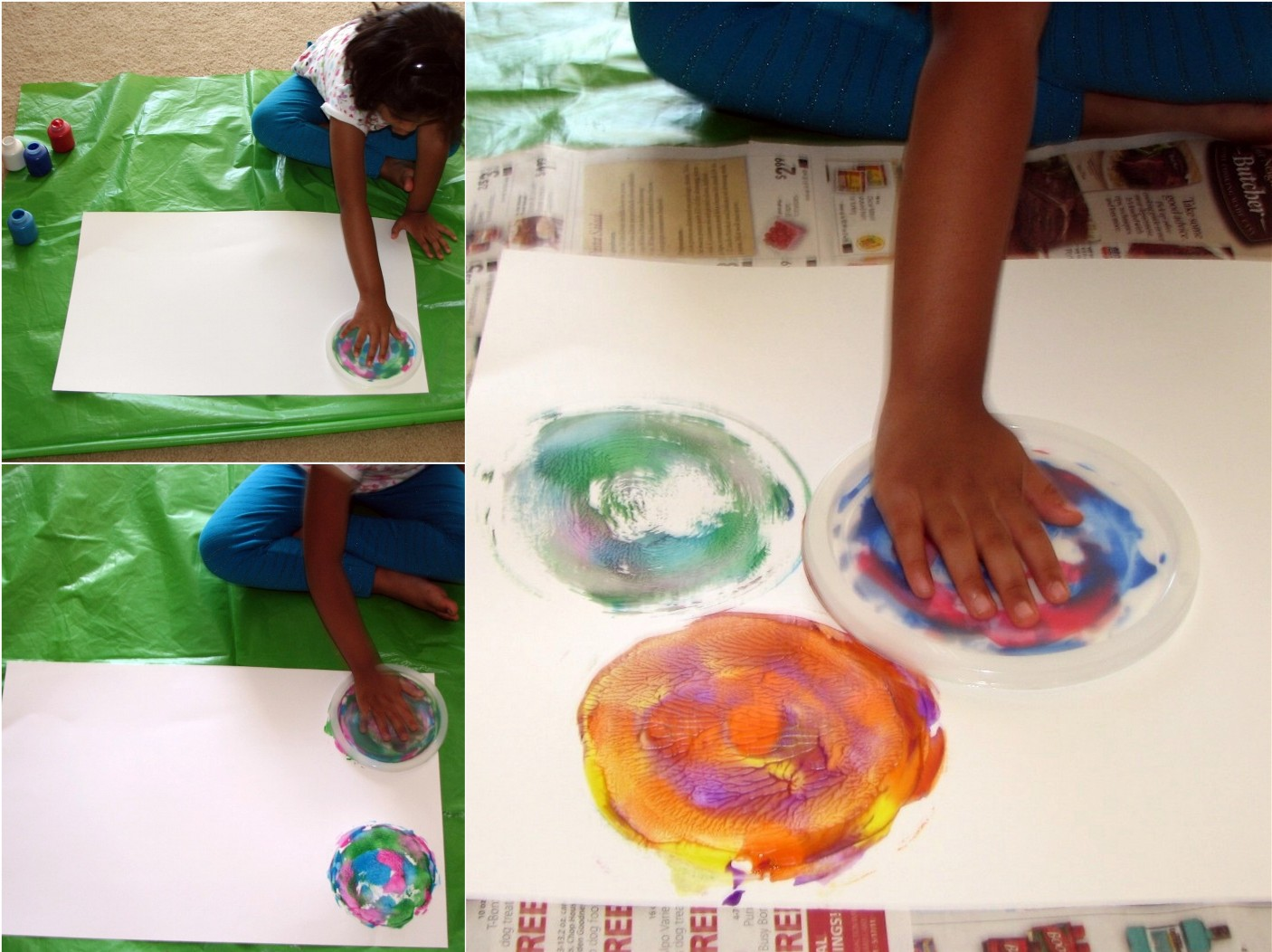 Spin Art With Paper Plate Cd And A Lid Putti S World