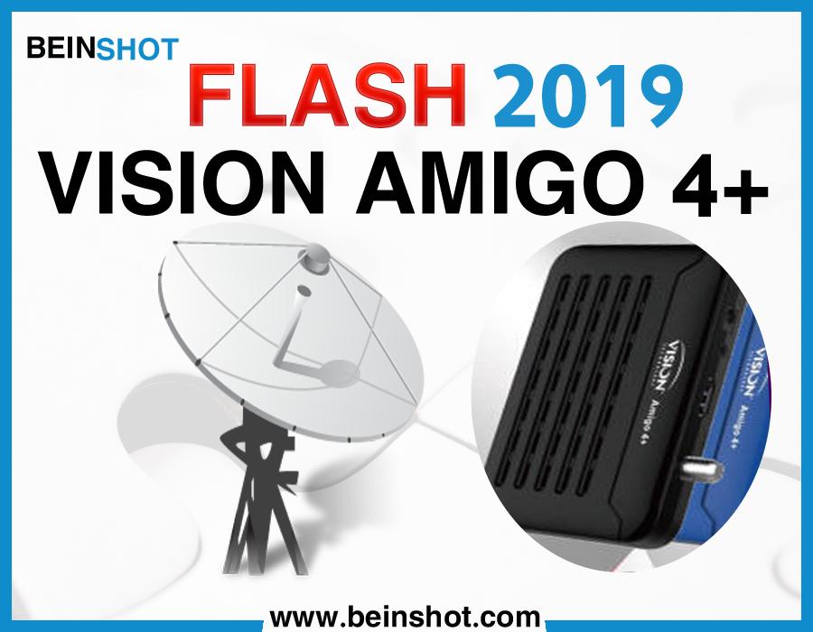 التحديث  الرسمي لجهاز  VISION AMIGO 4+ 2019