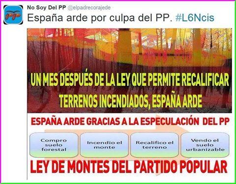 Resultado de imagen para ley de montes españa incendios forestales