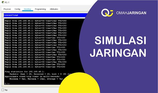 Hasil Simulasi Konfigurasi Routing RIP Versi 2