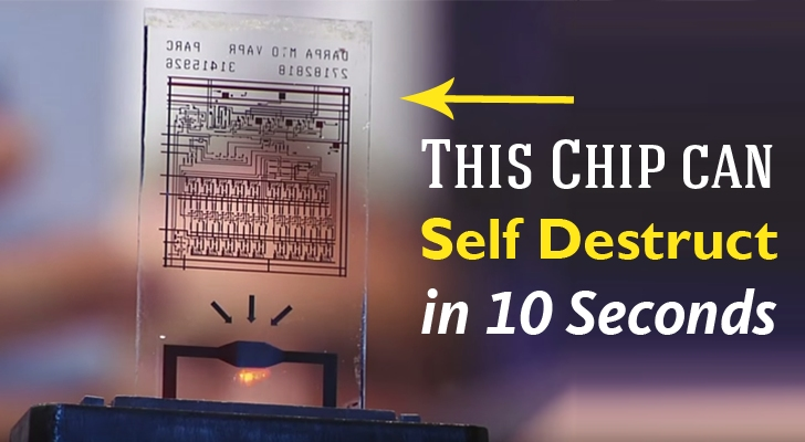 This Computer Chip Self-Destructs in 10 Seconds (On Command) to keep Secrets Safe
