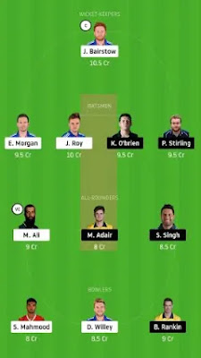 IRE vs ENG Dream11 team prediction