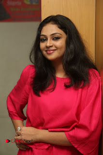 Actress Arundathi Nair Stills in Red Chididar at Bethaludu Success Meet  0018.JPG