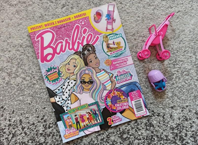 """""""Barbie. Magazyn 5/2021"""" - zadania, łamigłówki i lalka z akcesoriami"""