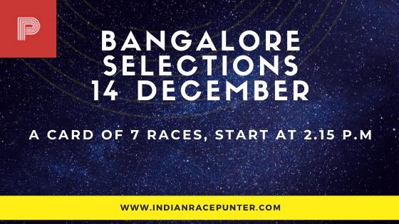 Today's  Bangalore Race Tips and Selections