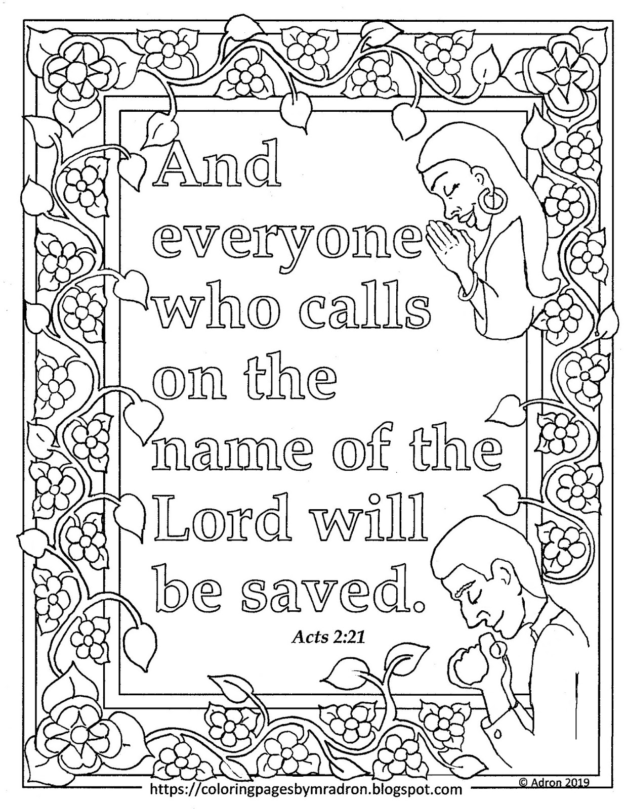 Bible Verses Coloring Pages Pictures - Whitesbelfast | 1600x1237
