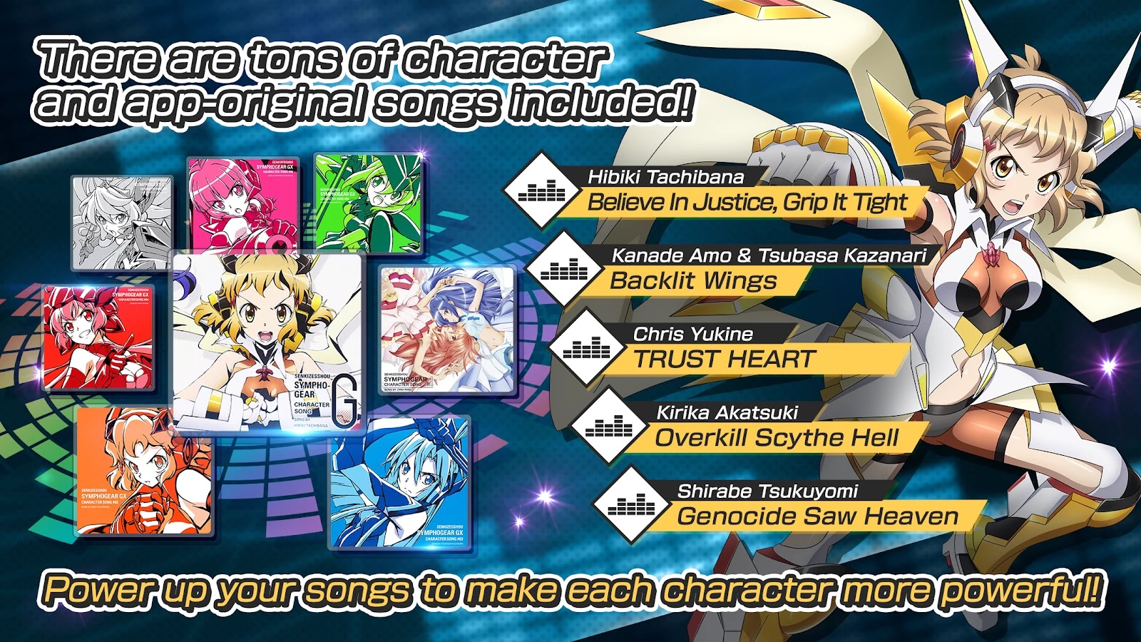 Symphogear XD Unlimited songs