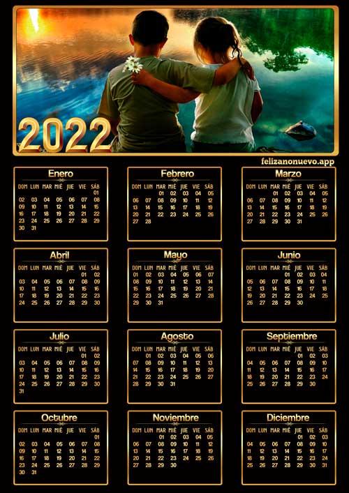 Calendario 2022 para imprimir gratis