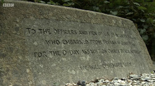 memorial on the shore at Trebah