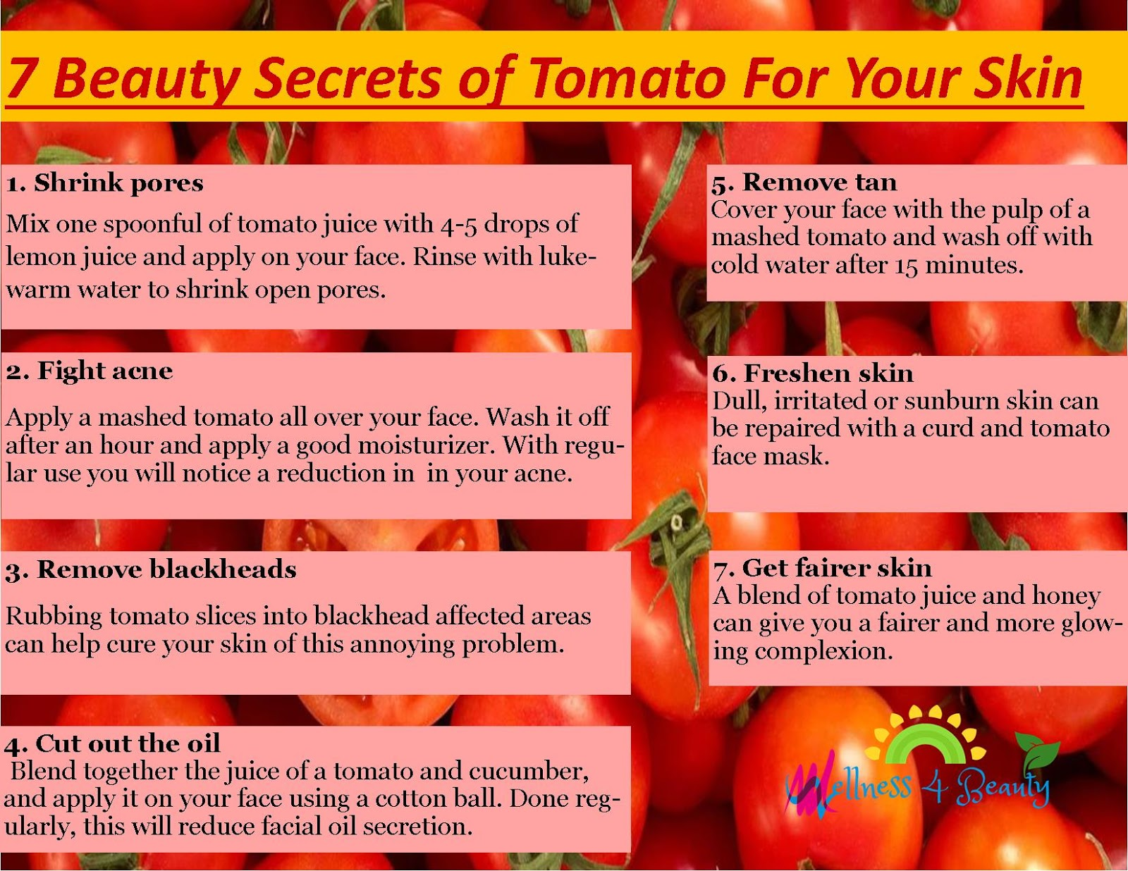 7 amazing reasons tomato is great for your skin & face