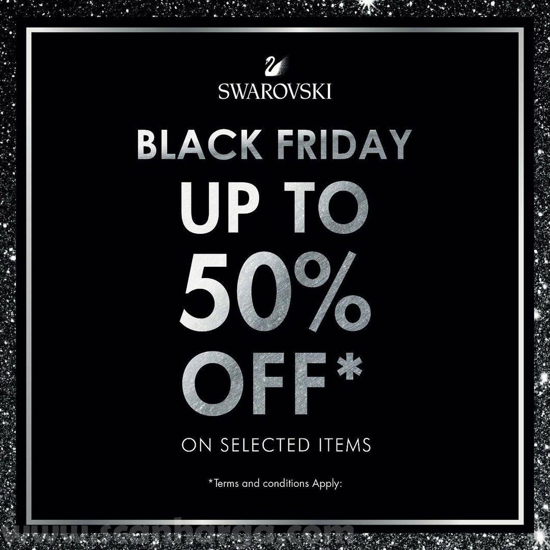 Swarovski Promo Black Friday Disc. up to 50% Off On Selected Items